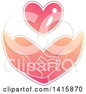 Clipart Of A Pair Of Hands Asking For Basic Needs Like Love And Care Royalty Free Vector Illustration