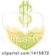 Clipart Of A Pair Of Hands Asking For Basic Needs Such As Financial Support Royalty Free Vector Illustration