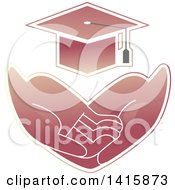 Clipart Of A Pair Of Hands Asking For Basic Needs Such As Education Royalty Free Vector Illustration by BNP Design Studio