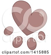 Clipart Of A Charity Heart Of A Paw Print Royalty Free Vector Illustration