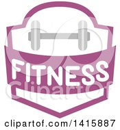Fitness Shield With A Dumbbell