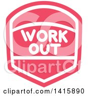 Fitness Icon With Work Out Text