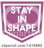 Fitness Icon With Stay In Shape Text
