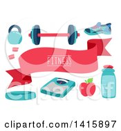 Clipart Of Fitness Design Elements Royalty Free Vector Illustration