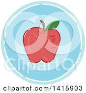 Sketched Round Fitness Nutrition Apple Icon