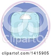Clipart Of A Sketched Round Fitness Weight Scale Icon Royalty Free Vector Illustration by BNP Design Studio