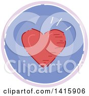 Sketched Round Fitness Or Love Heart Icon