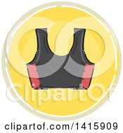 Sketched Round Fitness Sports Bra Icon