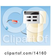 Gasoline Pump At A Gas Station Clipart Illustration