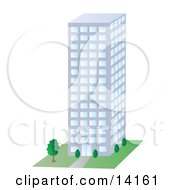 City Building Clipart Illustration by Rasmussen Images