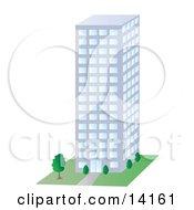 City Building Clipart Illustration
