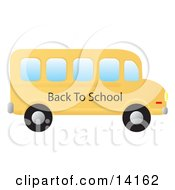 Yellow School Bus School Clipart Illustration