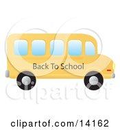 Yellow School Bus School Clipart Illustration by Rasmussen Images