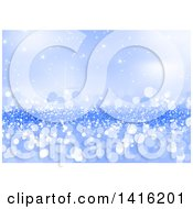 Clipart Of A Background Or Backdrop Of Blue Flares Royalty Free Vector Illustration by dero