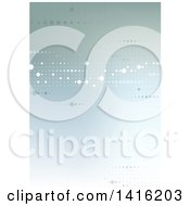 Clipart Of A Background Or Backdrop Of Dts On Gradient Green Royalty Free Vector Illustration
