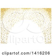 Background Or Backdrop Of An Arch Of Gold Dots