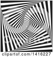 Clipart Of A Black And White Optical Illusion Tunne Vortex Background Royalty Free Vector Illustration