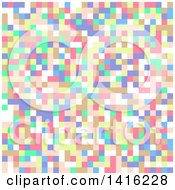 Clipart Of A Colorful Tile Or Pixel Background Royalty Free Vector Illustration by KJ Pargeter
