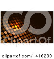 Glowing Dot And Black Business Card Design Or Website Background