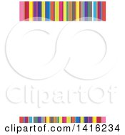 Clipart Of A Letterhead Design With Colorful Stripes Royalty Free Vector Illustration