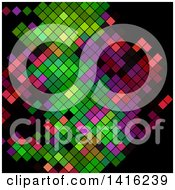 Clipart Of A Colorful Abstract Mosaic Design On Black Royalty Free Vector Illustration