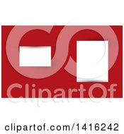 Clipart Of A Red And White Slot Business Card Design Or Website Background Royalty Free Vector Illustration