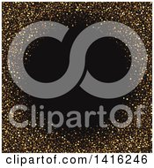 Clipart Of A Gold Glitter Frame Background With Black Text Space Royalty Free Vector Illustration