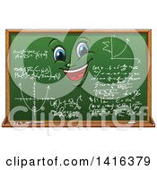 Clipart Of A Chalkboard Character Royalty Free Vector Illustration