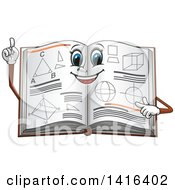 Clipart Of A Math Book Character Royalty Free Vector Illustration