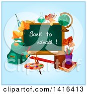 Poster, Art Print Of Back To School Chalkboard And Supplies
