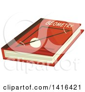 Clipart Of A Geometry Book Royalty Free Vector Illustration