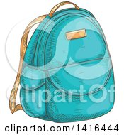 Poster, Art Print Of Sketched Backpack