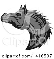 Clipart Of A Tough Gray Horse Head Royalty Free Vector Illustration by Vector Tradition SM