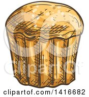 Clipart Of A Sketched Muffin Royalty Free Vector Illustration by Vector Tradition SM