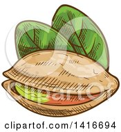 Clipart Of Sketched Pistachios Royalty Free Vector Illustration by Vector Tradition SM