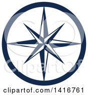 Clipart Of A Navy Blue Star Royalty Free Vector Illustration