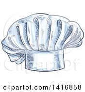 Clipart Of A Sketched Toque Chef Hat Royalty Free Vector Illustration by Vector Tradition SM
