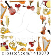 Border Of Musical Instruments