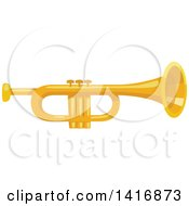 Clipart Of A Trumpet Royalty Free Vector Illustration by Vector Tradition SM