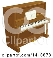 Clipart Of A Piano Royalty Free Vector Illustration by Vector Tradition SM