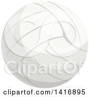 Clipart Of A Volleyball Royalty Free Vector Illustration by Vector Tradition SM