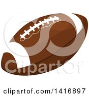 Clipart Of A Brown American Football Royalty Free Vector Illustration by Vector Tradition SM