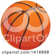 Clipart Of A Basketball Royalty Free Vector Illustration by Vector Tradition SM