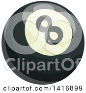 Clipart Of A Shiny Eight Ball Royalty Free Vector Illustration