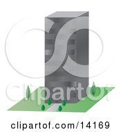 Comercial City Building Clipart Illustration