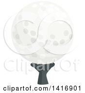 Clipart Of A Golf Ball On A Tee Royalty Free Vector Illustration by Vector Tradition SM