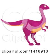 Clipart Of A Pink Raptor Dinosaur Royalty Free Vector Illustration by Vector Tradition SM