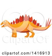Clipart Of A Stegosaurus Dinosaur Royalty Free Vector Illustration by Vector Tradition SM