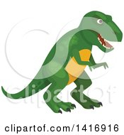 Clipart Of A Menacing Tyrannosaurus Rex Dinosaur Royalty Free Vector Illustration by Vector Tradition SM