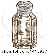 Clipart Of A Sketched Salt Shaker Royalty Free Vector Illustration by Vector Tradition SM